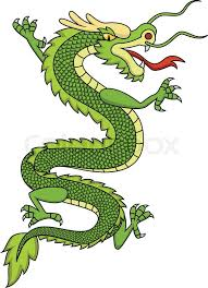 green chinese dragon stock vector colourbox