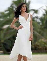a line plunging neckline asymmetrical chiffon wedding dress with