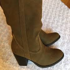 justfab s boots justfab justfab brown chunky boots gift from c a r o l y n