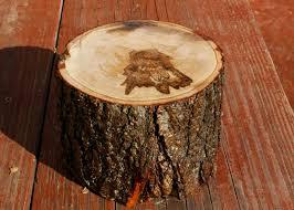 turtlecraftygirl rustic wood cake stands