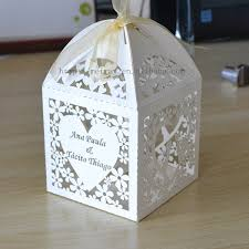 wedding favor boxes wholesale aliexpress buy thank you bag ivory laser cut box for wedding