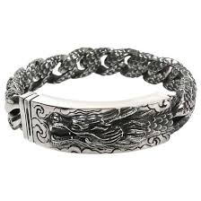 bracelet dragon images Dragon id bracelet 925 sterling silver dragon bracelet jpg