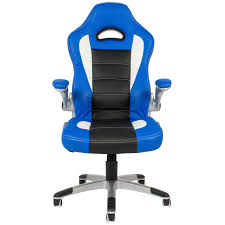 Gaming Chair Leather Executive Office Chair Pu Leather Racing Style Bucket Desk Seat