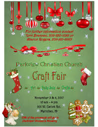 parkview christian church craft fair