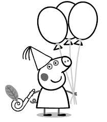 peppa pig coloring pages birthday party coloringstar