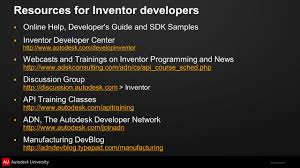 design patterns applied to autodesk inventor api ppt video