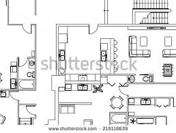 architectural building plans vector shows architectural plan twobedroom condo stock vector