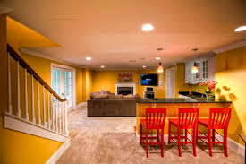 Pictures Of Finished Basement by How To Prep For A Basement Remodel