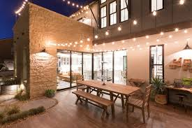 Outdoor String Lights Patio Outdoor String Lights Patio Rustic With Wood Pergola Traditional