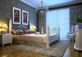 2015 bedroom interior design with elegant wallpaper download 3d