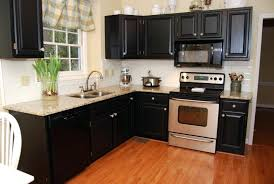 Distressed Painted Kitchen Cabinets Painting Kitchen Cabinets Black Without Sanding Painted Kitchen