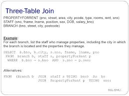 Join Three Tables Sql Chapter 8 Introduction To Sql Ppt Download