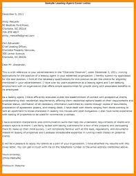 cover letter for insurance agent leasing consultant cover letter