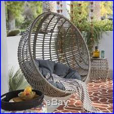 outdoor egg chair hanging resin wicker lounge deck furniture porch