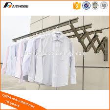 Wall Mounted Cloth Dryer Push Pull Wall Mounted Clothes Drying Racks Aluminium Folding