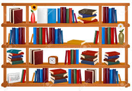 vector wooden bookshelves royalty free cliparts vectors and
