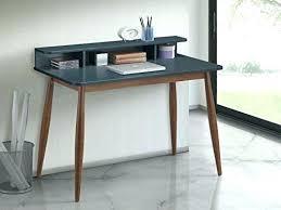 modern desk with storage small mid century desk desk furniture storage wood office gray blue