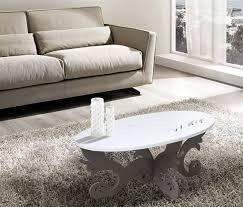 tavolo ovale legno las tavolino da salotto contemporaneo ovale legno bianco grigio