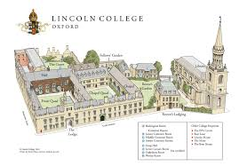Map Of Oxford England by Lincoln College Virtual Tour