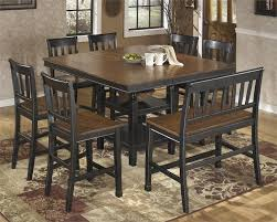 counter height dining table with bench owingsville counter height dining set by signature design