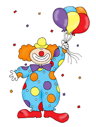 clowns balloons clown with balloons color and b w cbs year 1