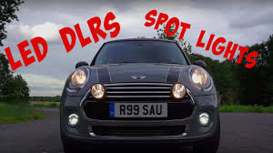 mini cooper fog lights mini cooper f56 spot lights led drls studio reesau youtube