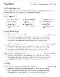 skill based resume template free resume templates hirepowers net