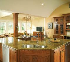 Kitchen Oak Cabinets Yellow Kitchen With Oak Cabinets Custom Home Design