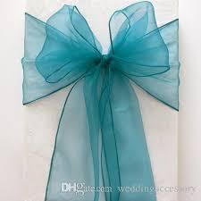 teal chair sashes 18cm 275cm teal blue organza chair sashes wedding party banquet