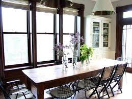 Dining Room  Antique Farmhouse Dining Room Tables Design - Simple kitchen table centerpiece ideas