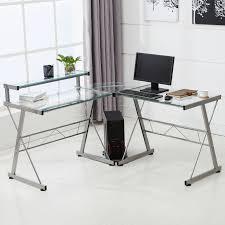 cheap glass corner computer desk decorative desk decoration
