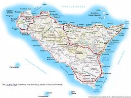 printable road maps map of sicily sicily italy map maps of sicily best of sicily