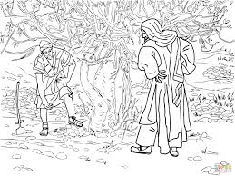 barren fig tree parable coloring page free printable coloring pages