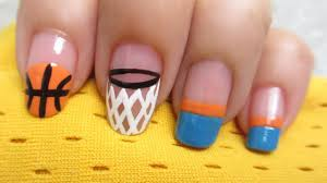 basketball nail art youtube