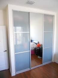 Glass Doors For Closets Tri Panel Sliding Closet Doors 4 Door Track 3 Multi Pass