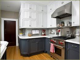 Kitchen Cabinets With Glass Kitchen Brown White Wooden Cabinet With Storage Having Glass