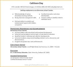 Resume Educational Background Format Lovely Model Resumes Resume Cv Cover Letter Functional No Work