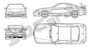 nissan silvia drawing чертеж nissan silvia s15 3dcar ru 3d модели автомобилей