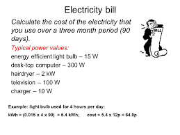 Electricity Bill Desk Edexcel Igcse Certificate In Physics 2 1 Mains Electricity Ppt