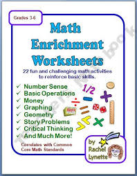 math enrichment worksheets with answer keys 6th 8th grade