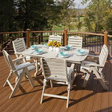 Folding Patio Furniture Dining Sets - trex outdoor furniture yacht club highback folding chair yacht