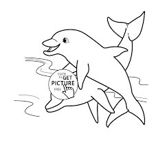 dolphins sea animals coloring pages for kids printable free