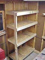 diy storage shelves building a cheap and sturdy garage shelf unit using exposed wall