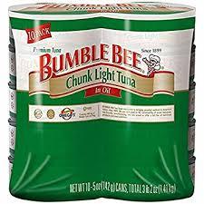 bumble bee chunk light tuna bumble bee chunk light tuna in oil 10 pk 5 oz amazon com