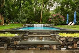 Beautiful Pool Backyards Waterfall Design Ideas Pool Traditional With Stone Wall Beautiful