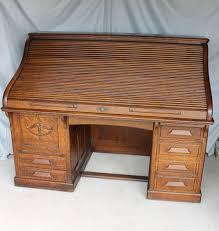 american antique breakfront secretary desk furniture antique quarter sawn oak heavy paneled roll top desk inches length ebay