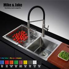 Lead Free Kitchen Faucets Stainless Steel 304 Pull Out Black Rubber Kitchen Mixer Healthy