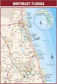 Map State Of Florida by Florida Road Map Map Of Jacksonville Print