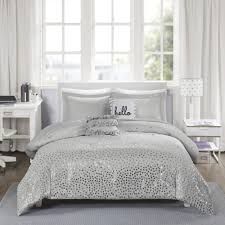 home design comforter reduced intelligent design bedding liv grey silver metallic 5