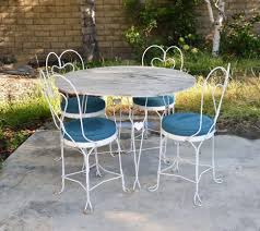 Large Bistro Table And Chairs Chairs Wrought Iron Patio Furniture Set Home Design Ideas And